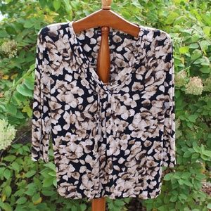 Dana Buchman Brown & Black Print Size Large